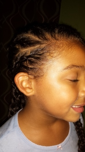 Starting point of Sideways braids. themixedmamablog.com