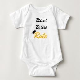 Mixed Babies Rule Onesie