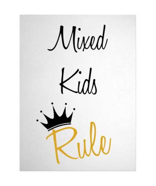 Mixed Kids Rule Print - 12in * 16in