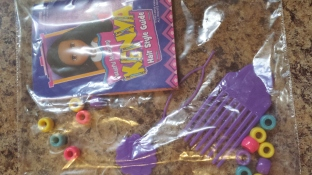 Beads, Rubber bands, comb,