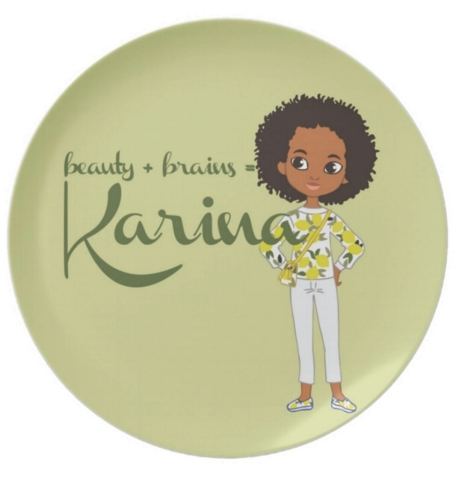 izzy-and-liz-beauty-plus-brains-personalized-plate