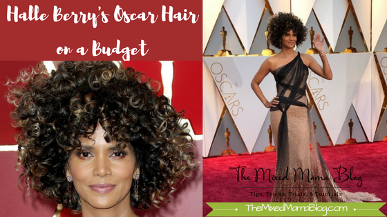 Halle Berry's Oscar Hair on a Budget - photographers unknown - from twitter