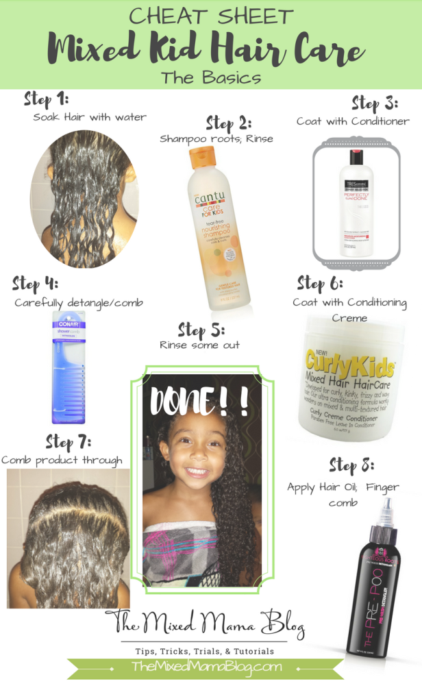 Cheat Sheet for Mixed Kids Hair Care - The Basics