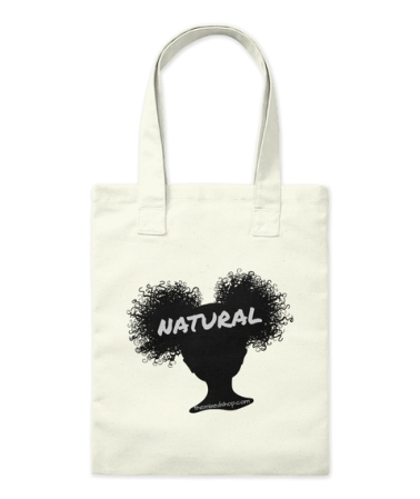 Natural Puffs Tote for TheMixedShop dot come site