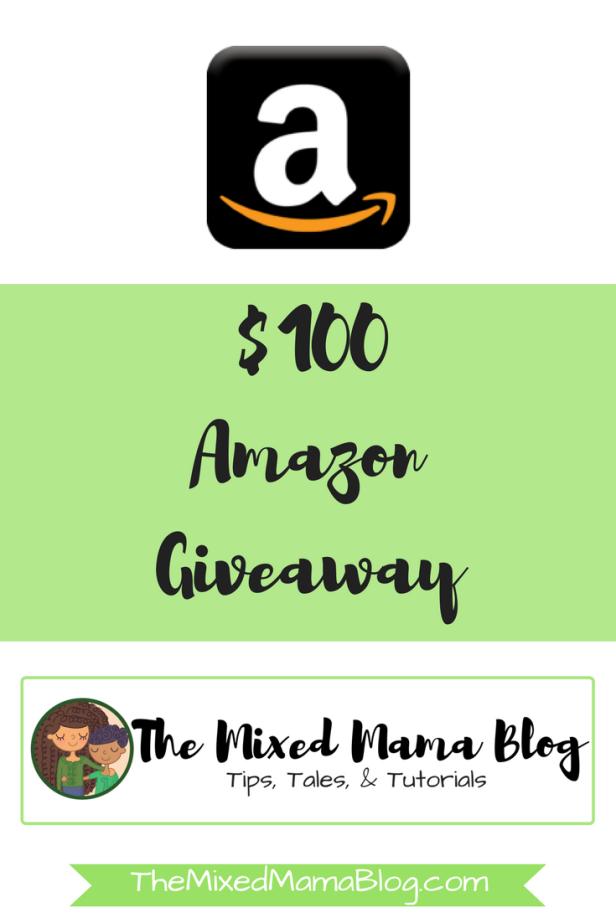$100 Amazon Giveaway by TheMixedMamaBlog