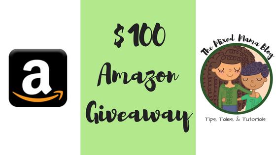 $100 Amazon Giveaway on TheMixedMamaBlog