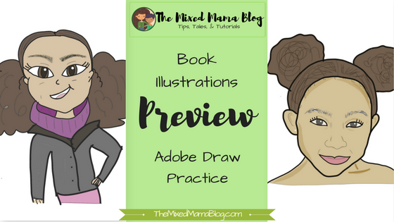 Book Illustrations Preview - Adobe Draw Practice by TheMixedMamaBlog