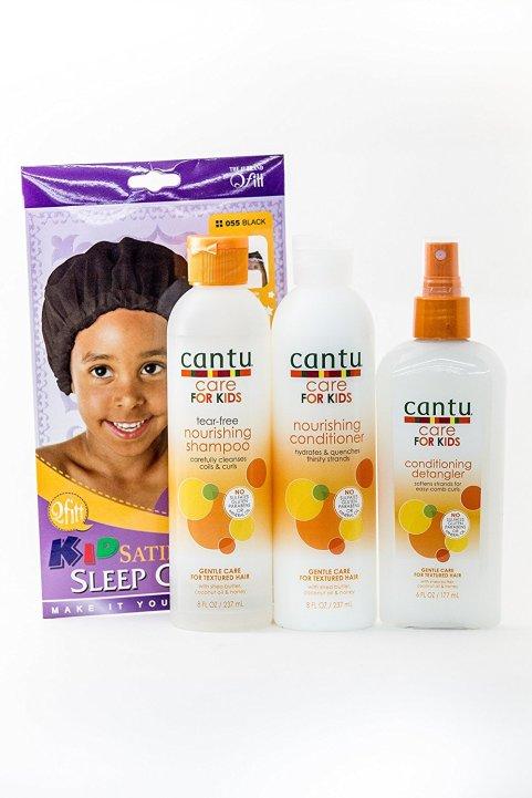 Cantu Care for Kids Trio with Free Satin Sleep Cap
