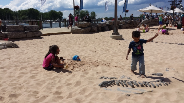 Canalside Playing in the Sand