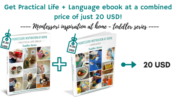 Montessori Inspiration at home - toddler series- BOOK BUNDLE