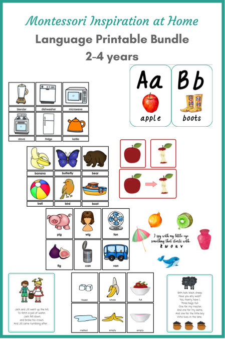 Montessori Inspiration at Home - Language Printable Bundle