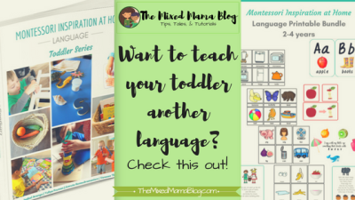 Want to teach your Toddler another language - Montessori Inspiration at Home - Language - Toddler Series - with Spanish