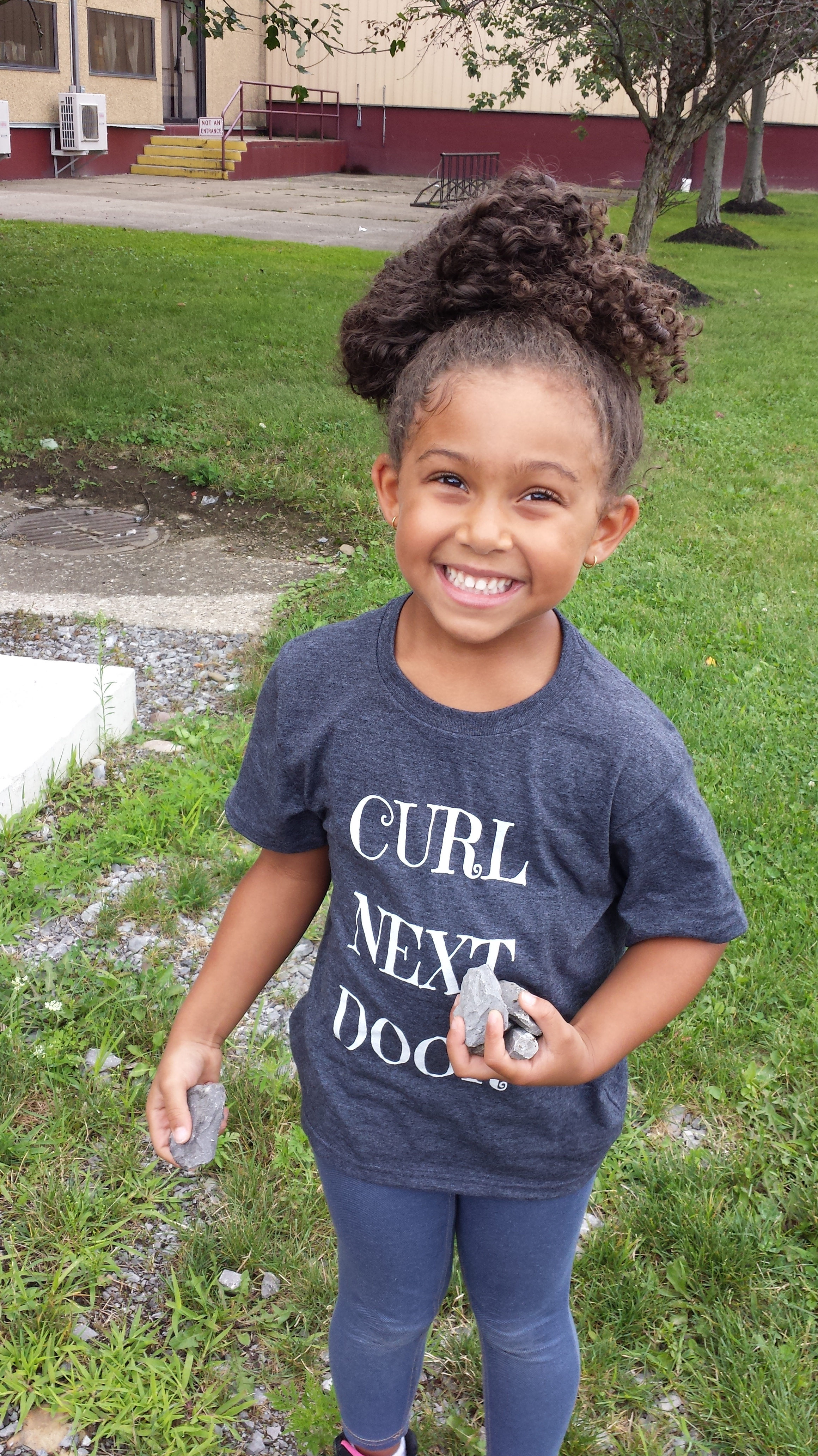 Explore and More Childrens Museum - Family Fridays - Curl Next Door Tshirt